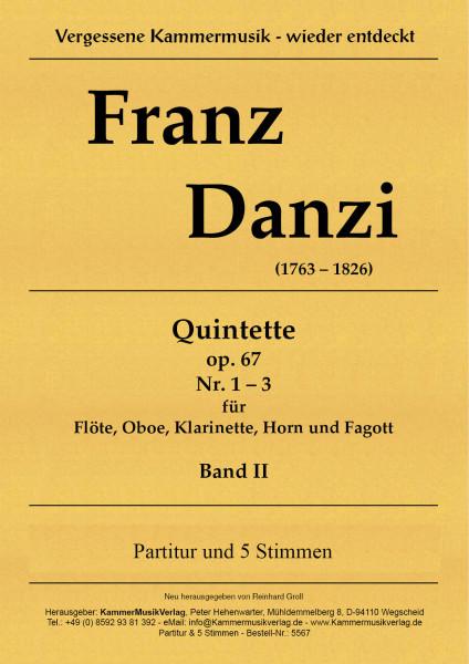 Danzi, Franz – 3 Bläserquintette Nr. 4-6, in G, e, Es, op. 67, Nr. 1-3