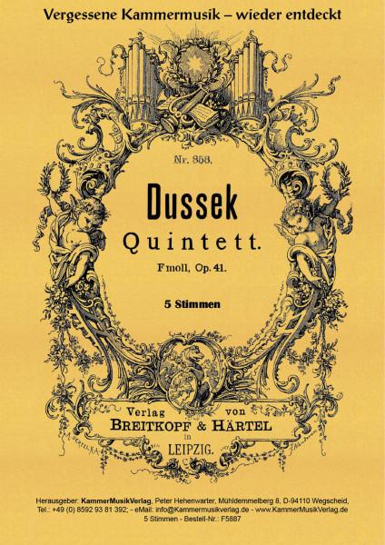 Dussek, Johann Ladislaus – Klavierquintett (Forellen-Besetzung)