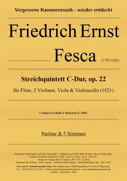 Fesca, Friedrich Ernst – Quintett für Flöte und Streichquartett, C-Dur, op. 2