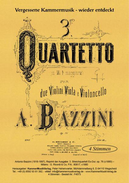 Bazzini, Antonio – Streichquartett Nr. 3