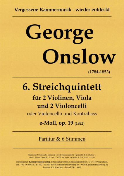 Onslow, George – Streichquintett Nr. 06, e-Moll, op. 19