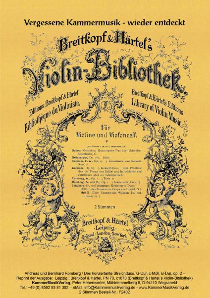 Romberg, Andreas und Bernhard – Drei konzertante Streichduos
