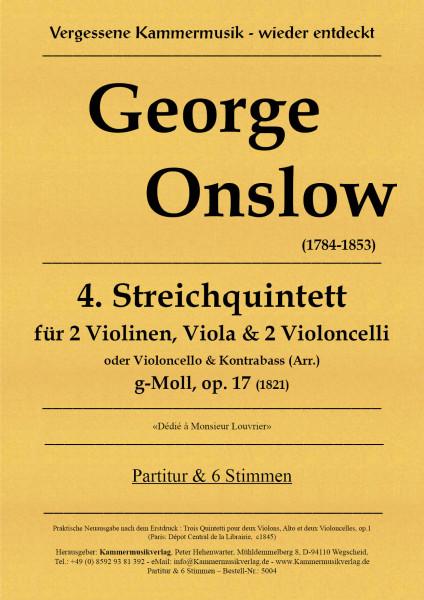 Onslow, George – Streichquintett Nr. 04, g-Moll, op. 17