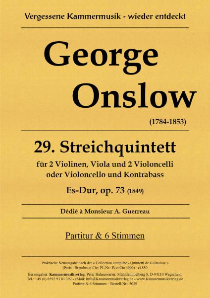 Onslow, George – Streichquintett Nr. 29, Es-Dur, op. 73