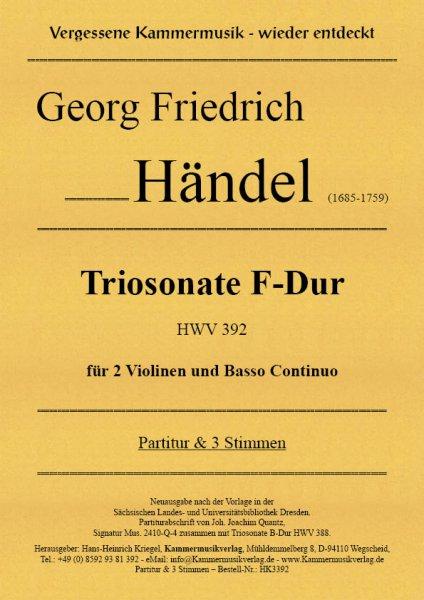 Händel, Georg Friedrich –Triosonate F-Dur