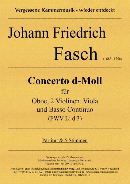 Fasch, Johann Friedrich – Concerto d-Moll (FWV L: d 3)