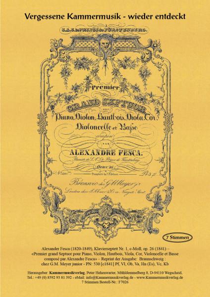Fesca, Alexander – Klavierseptett Nr. 1