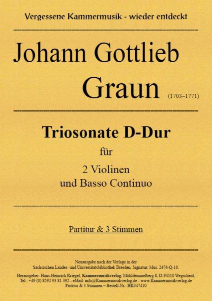 Graun Johann Gottlieb – Triosonate D-Dur