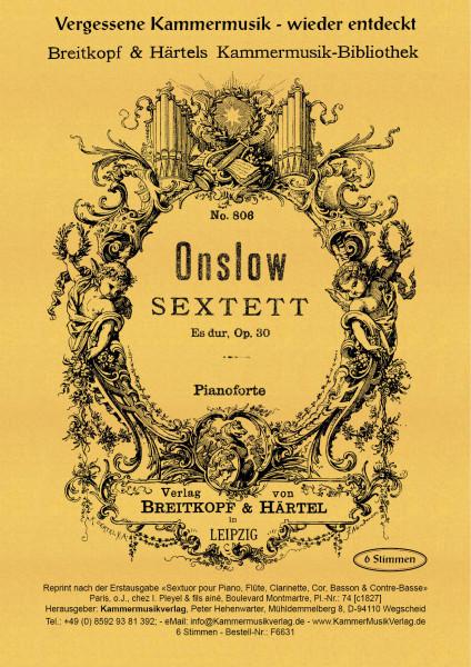 Onslow, George – Klaviersextett Nr. 1 mit Bläsern, Es-Dur, op. 30