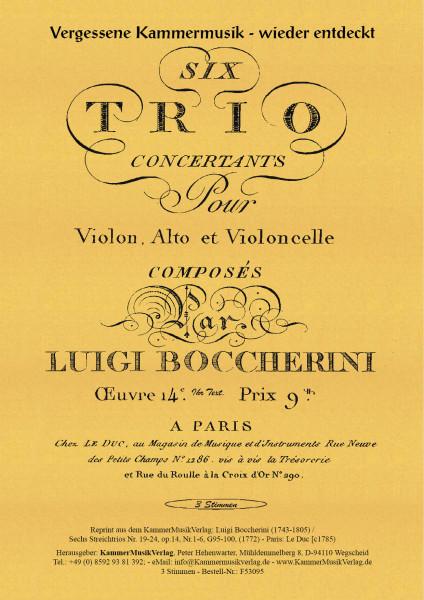 Boccherini, Luigi – 6 Streichtrios Nr. 19–24