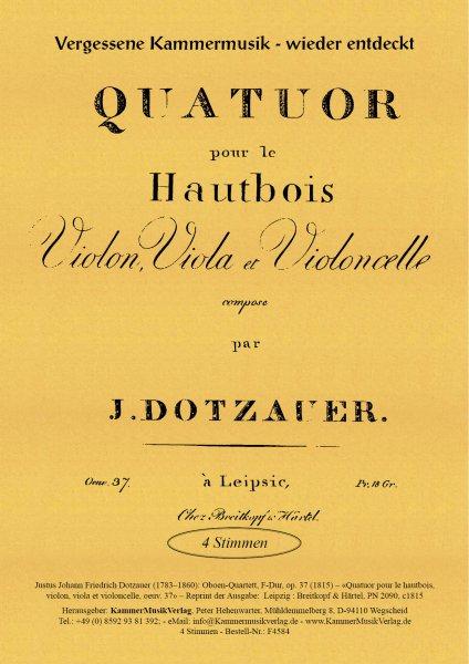 Dotzauer, Justus Johann Friedrich – Oboen-Quartett, F-Dur, op. 37
