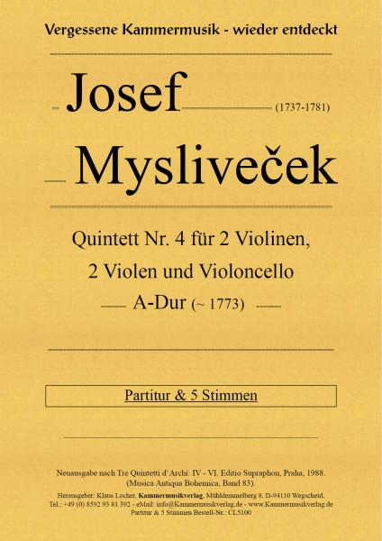 Mysliveček, Josef – Streichquintett Nr. 4, A-Dur