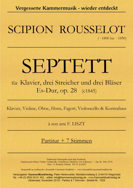 Rousselot, Scipion – Klavierseptett, Es-Dur, op. 28b