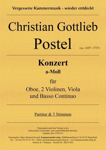 Postel, Christian Gottlieb – Konzert a-Moll für Oboe, 2 Violinen, Viola und Basso Continuo