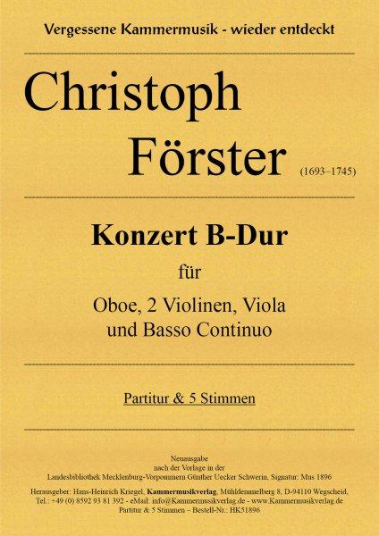 Förster, Christoph – Konzert B-Dur