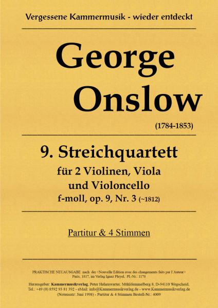 Onslow, George – Streichquartett Nr. 09 in f-Moll, op. 9-3