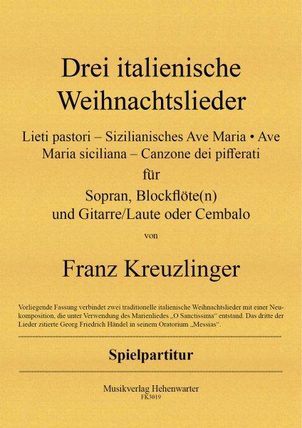 Kreuzlinger Franz – Drei italienische Weihnachtslieder