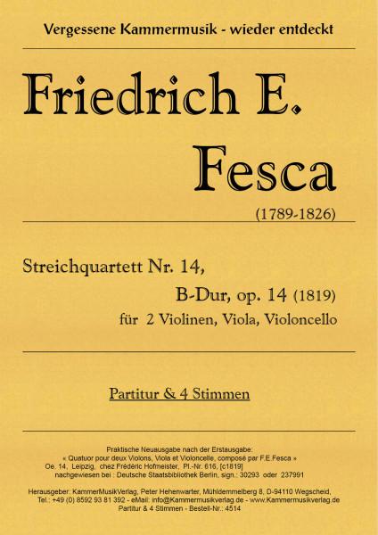 Fesca, Friedrich Ernst – Streichquartett Nr. 14, B-Dur, op. 14