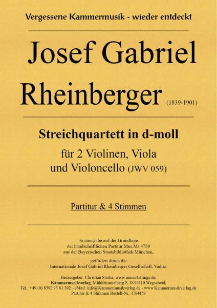 Rheinberger, Josef Gabriel – Streichquartett in d-moll (JWV 059)