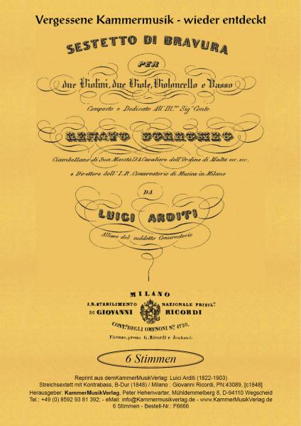 Arditi, Luigi – Streichsextett mit Kontrabass, B-Dur