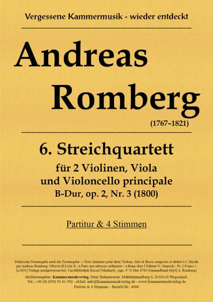 Romberg, Andreas – Streichquartett Nr. 6, B-Dur, op. 2-3