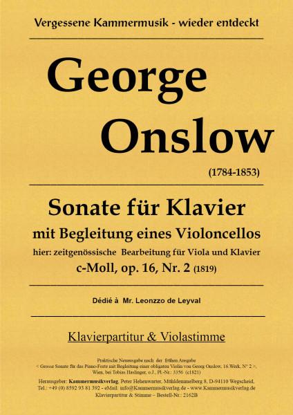 Onslow, George – Sonate für Viola & Klavier in c-Moll op. 16-2