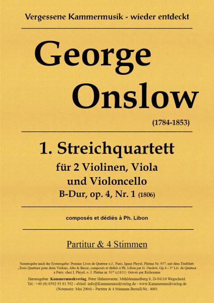 Onslow, George – Streichquartett Nr. 01 in B-Dur, op. 4-1