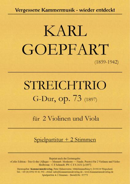 Goepfart, Karl – Trio, G-Dur, op. 73