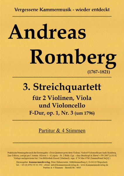 Romberg, Andreas – Streichquartett Nr. 3, F-Dur, op. 1-3, F-Dur, op. 1-3