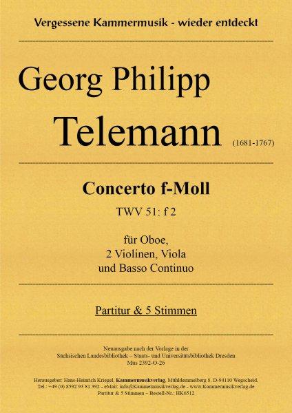 Telemann, Georg Philipp – Concerto f-Moll (TWV 51: f 2)