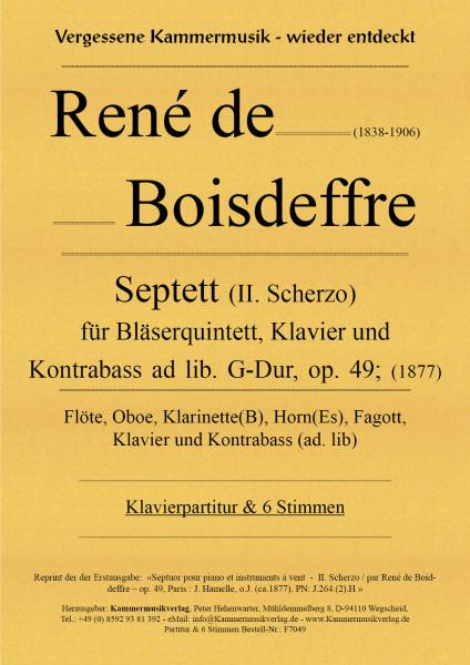 Boisdeffre, René de – Klavierseptett mit Bläsern und Kontrabass, G-Dur, op. 49