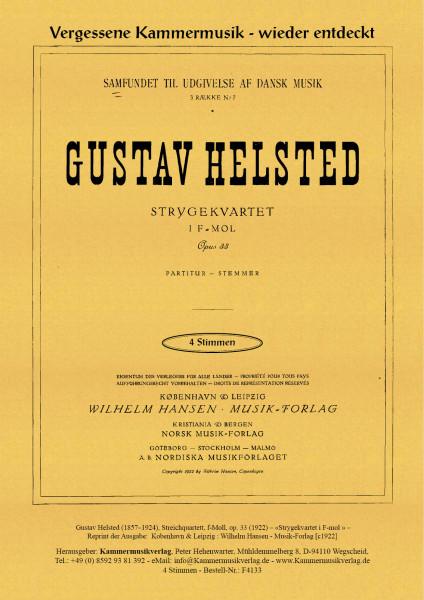 Helsted, Gustav – Streichquartett, f-Moll, op. 33