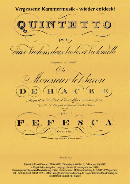 Fesca, Friedrich Ernst – Streichquintett Nr. 1, D-Dur, op. 8