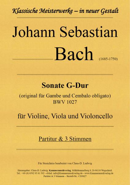 Bach, Johann Sebastian – Sonate G-Dur für Violine, Viola und Violoncello