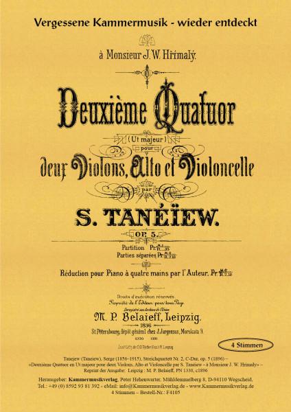Tanejew (Taneiew), Serge – Streichquartett Nr. 2, C-Dur, op. 5