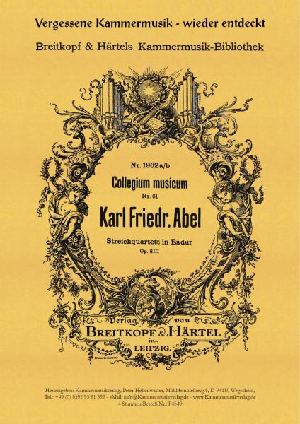 Abel, Carl Friedrich – Streichquartett Nr. 3