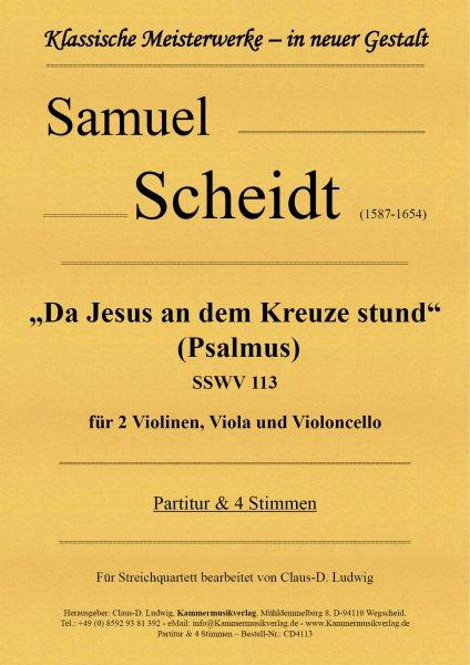 """Scheidt, Samuel – """"Da Jesus an dem Kreuze stund"""" (Psalmus)"""