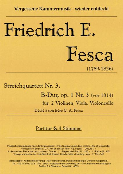 Fesca, Friedrich Ernst – Streichquartett Nr. 3, B-Dur, op. 1-3