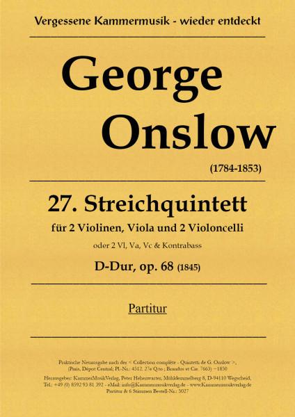 Onslow, George – Streichquintett Nr. 27