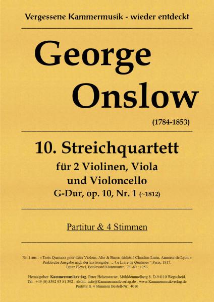 Onslow, George – Streichquartett Nr. 10 in G-Dur, op. 10-1