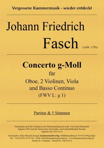 Fasch, Johann Friedrich – Concerto g-Moll (FWV L: g 1)