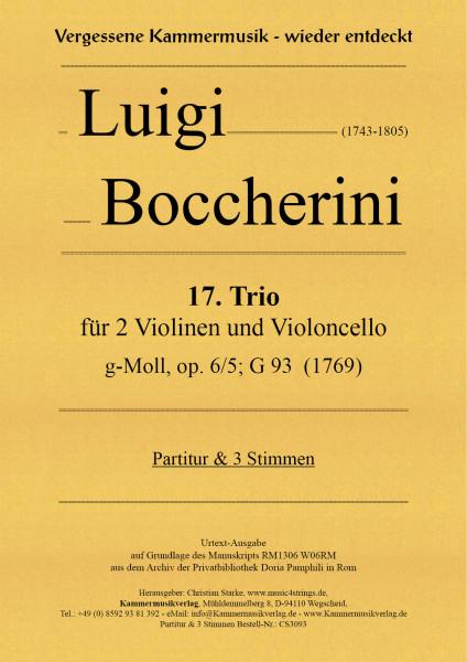 Boccherini, Luigi – 17. Trio für 2 Violinen und Violoncello