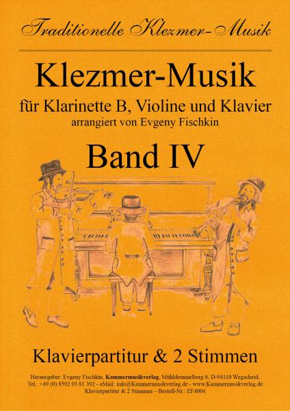 Klezmer-Musik – Band IV für Klarinette B, Violine und Klavier