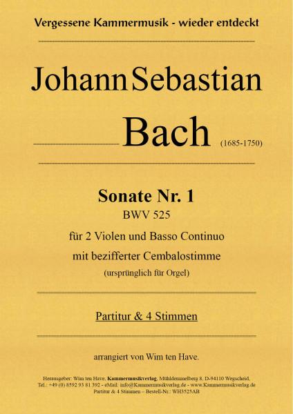 Bach, Johann Sebastian – Sonate Nr. 1 für 2 Va & BC mit bezifferter Cembalostimme