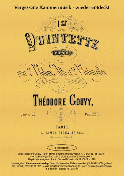 Gouvy, Louis Théodore – Streichquintett (2Vc) Nr. 1