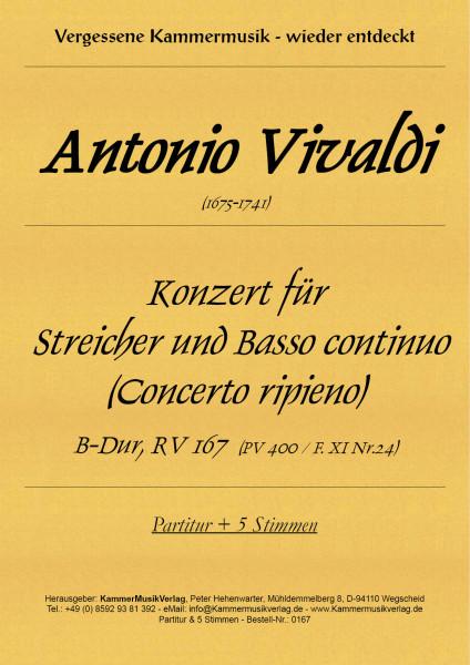 Vivaldi, Antonio – Konzert für Streicher und B. c. (Concerto ripieno)