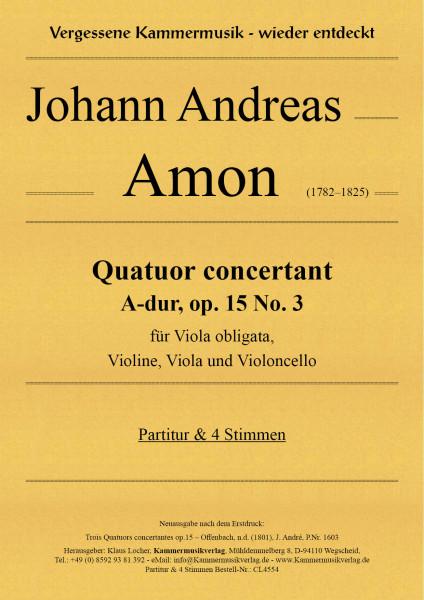 Amon, Johann Andreas – Quatuor concertant, A-dur, op.15 No.3