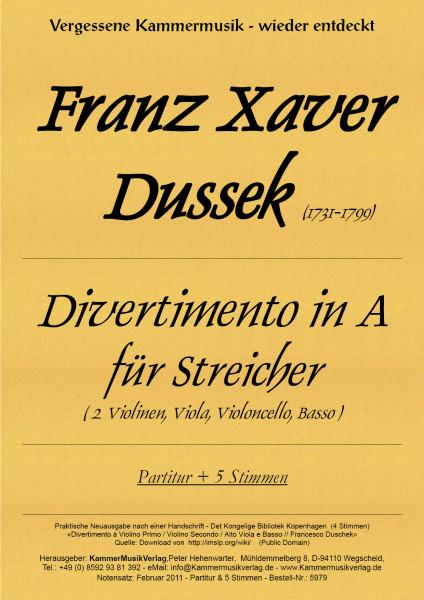 Dussek, Franz Xaver – Divertimento in A für Streicher