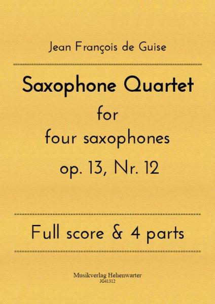 Guise, Jean François de – Saxophone Quartet
