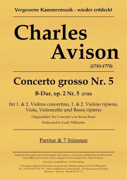 Avison, Charles – Concerto grosso Nr. 5, B-Dur, op. 2-5